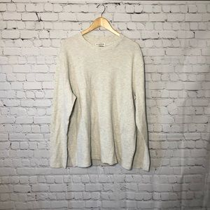 Magellan Long Sleeve Light Grey Knit Thermal Shirt